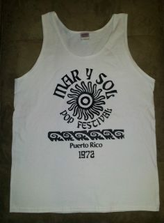 Mar Y Sol Festival Puerto Rico 72 Tank Top Shirt Alice Cooper Billy