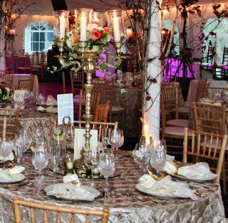 Wedding Candelabra Victorian Brass Centerpieces