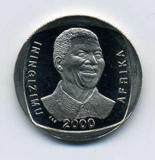 South Africa Nelson Mandela R5 Year 2000 Proof L Coin