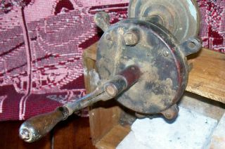 Antique Manuel Bench Grinding Wheel Ohio King L L H Co