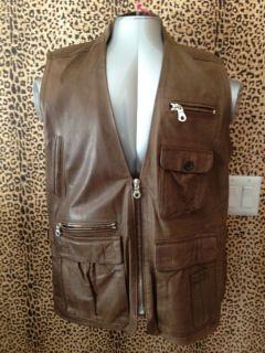 Bergdorf Goodman Leather Vest