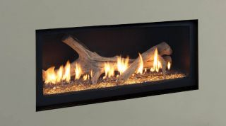 Majestic Modern Gas Fireplace Linear Echelon 60 Big Monessen Natural