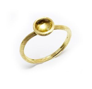 Marco Bicego  Jaipur  Yellow Gold with Citrine Ring AB471QG01