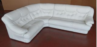 Malaga Traditional Made in Italy Full Leather Sectional Sofa