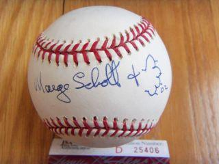 Marge Schott Signed MLB Baseball JSA Authenticated