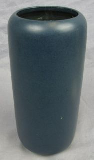 Marblehead Art Pottery Tall Vase Blue