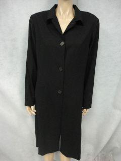 Margaret OLeary Long Black Wool Jacket Sz L Large