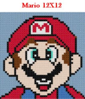Pick 1 Mario Friends 12x12 Latch Hook Kits Message Me wi Choice Free