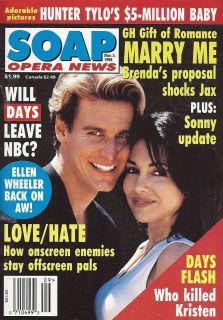 Ingo Rademacher Vanessa Marcil Mar 3 1998 Soap Opera News