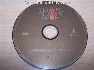 Marco Antonio Solis La Historia Continua Parte III DVD