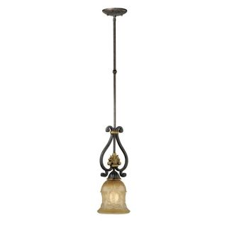 Pendant Lighting Fixture Walnut Bronze Patina Margaux Glass