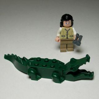 Lego Indiana Jones Marion Ravenwood Minifig Figure Scared Smiling Face