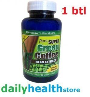 Super Green Coffee Bean Extract 800mg 60ct MaritzMayer Maritz Mayer