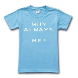 Why Always Me?Mario Balotelli Mens Unisex Blue T Shirt Funny