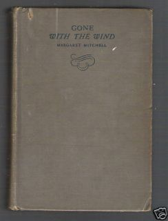 Gone with The Wind Margaret Mitchell 1937 Edition