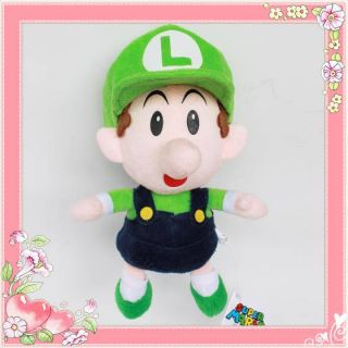 Nintendo Super Mario Brothers Figure Plush Toy Baby Luigi Stuffed