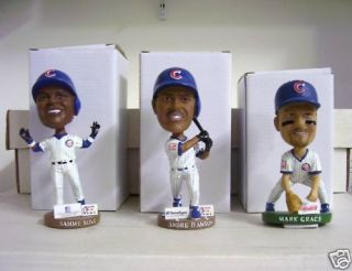 Andre Dawson Mark Grace Sammy Sosa Cubs Riverhawks Bobble Bobbleheads