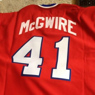 Mark McGwire Auto / Signed Team USA Jersey Steiner Autograph St Louis