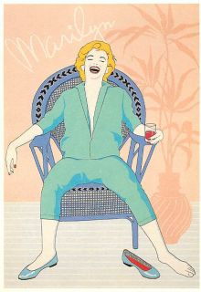 Marilyn Monroe Marilyns Party by Hans Wientjens Art Postcard