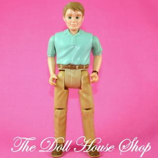 Dad Father Man Green Shirt Fisher Price Loving Family Dollhouse Doll