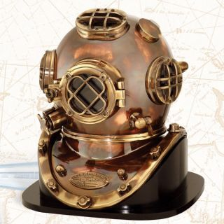 PRIDE OF U S NAVY MARK V U S DIVERS DIVING HELMET WITH WOOD BASE SCUBA