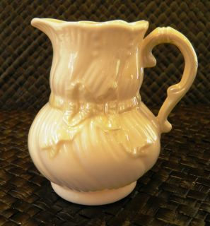 Belleek Yellow Ribbon Creamer 3rd Green Mark 1965 1981