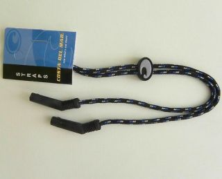 Costa Del Mar Sunglasses Black Blue Landyard Cord Strap
