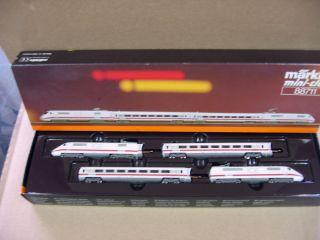 Marklin Z Scale Amtrak Ice Railcar Train Set No 88711