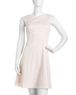 Marc New York by Andrew Marc Cap Sleeve Seamed Dress