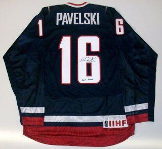 Joe Pavelski Signed Team USA Nike Jersey San Jose Sharks w COA