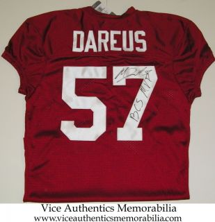Marcell Dareus Signed Auto Alabama Crimson Tide Football Jersey w BCS