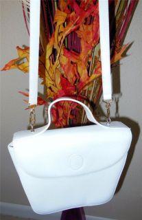 Mark Cross Vintage White Leather Small Crossbody Shoulder Bag Handbag