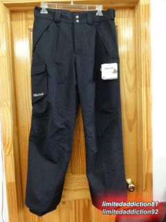 New Marmot Motion Cargo Snowboard Ski Pants XXL Mens Black