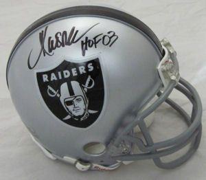 Marcus Allen Oakland Raiders Signed Mini Helmet w HOF