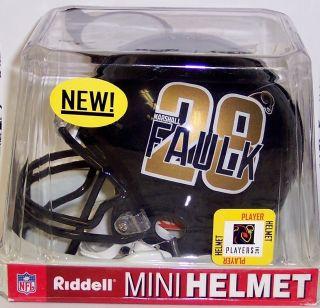 Marshall Faulk Player Logo St Louis Rams Riddell NFL Football Mini