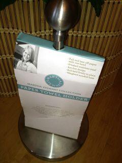 Martha Stewart Collection Aluminum Paper Towel Holder New