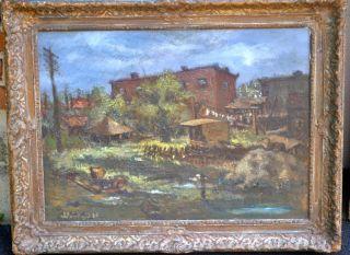 Listed American Artist Martin Jackson WPA Philadelphia City Scene