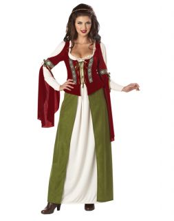 Marian Robin Hood Maiden Renaissance Womens Adults Halloween Costume L