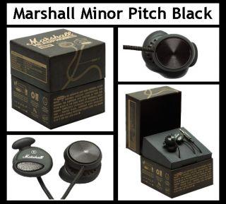 Marshall Minor Pitch Black Audio in Ear Stereo Headphones