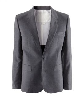 Maison Martin Margiela H M grey wool jacket blazer with fused detail
