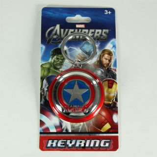 The Avengers Marvel Studios Captain America Shield Pewter Keychain