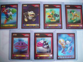 Pick Any Super Mario Bros Wii TCG Foil Trading Card f6 F12 F16 F18 F19