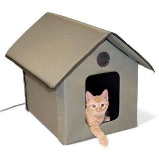 3993 OUTDOOR HEATED KITTY HOUSE KH 3993 OUTDOOR HEATED CAT HOUSE