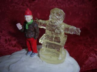 Lemax Village Collection 1994 Ice Sculpture Santa Christmas Figurine