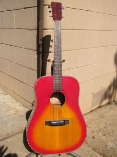 Vintage Goya C F Martin Acoustic Guitar Burst Beautiful Sounds Amazing