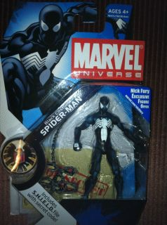 Marvel Universe Action Figure Spiderman Black Costume Wave 3