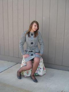 Vtg 60s Minx MIDI Dress 13 14 Mary Tyler Moore Style