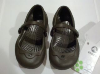 Brand New Womens Crocs Brown Alice Mary Janes Crocs Shoes Womens Size