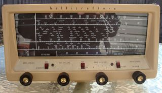 HALLICRAFTERS S 38EB (BEIGE) MARK 2   COMMUNICATIONS RECEIVER   NICE!!