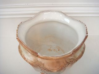 RARE s F Co Royal Crown Devon Jardiniere Hand Painted CA 1891